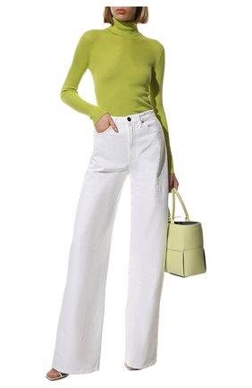 Женская водолазка из кашемира и шелка TOM FORD зеленого цвета, арт. MAK840-YAX176 | Фото 2 (Материал внешний: Шелк, Шерсть, Кашемир; Длина (для топов): Стандартные; Рукава: Длинные; Стили: Классический; Женское Кросс-КТ: Водолазка-одежда)