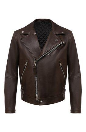 Мужская кожаная куртка TOM FORD коричневого цвета, арт. BW486/TFL827 | Фото 1