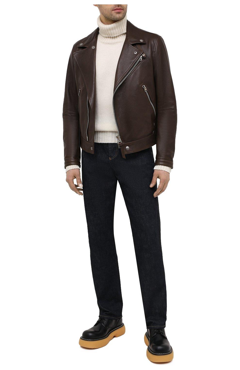 Мужская кожаная куртка TOM FORD коричневого цвета, арт. BW486/TFL827 | Фото 2
