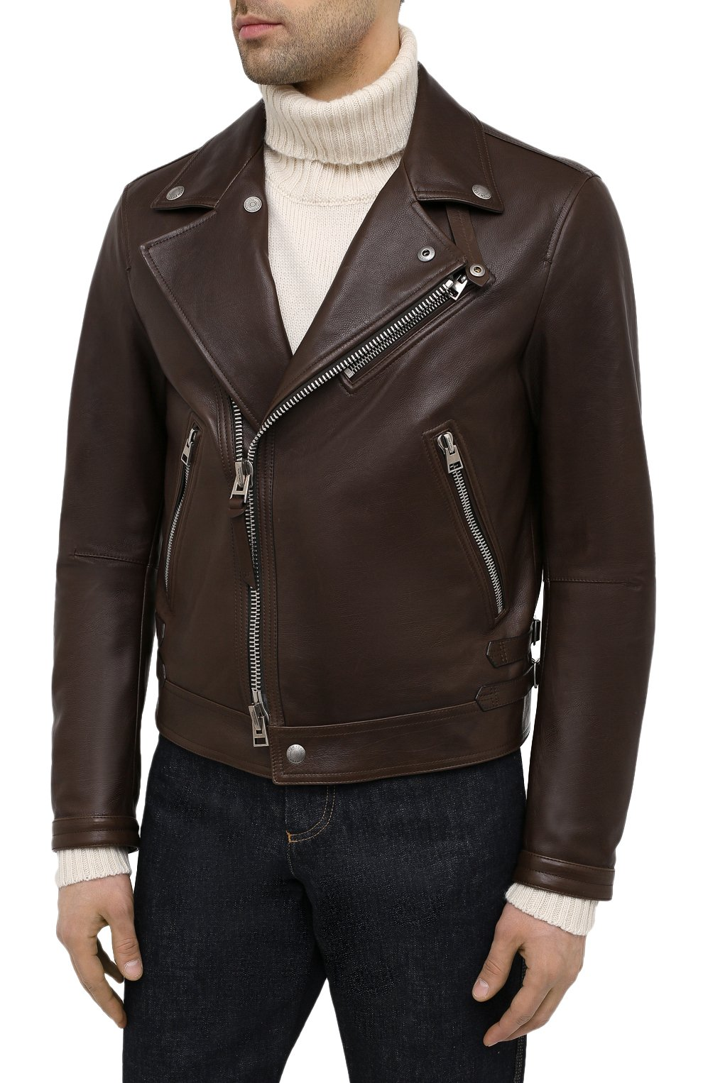 Мужская кожаная куртка TOM FORD коричневого цвета, арт. BW486/TFL827 | Фото 3