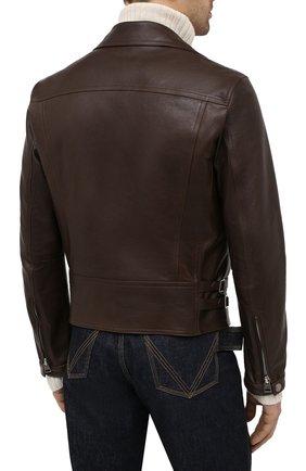 Мужская кожаная куртка TOM FORD коричневого цвета, арт. BW486/TFL827 | Фото 4