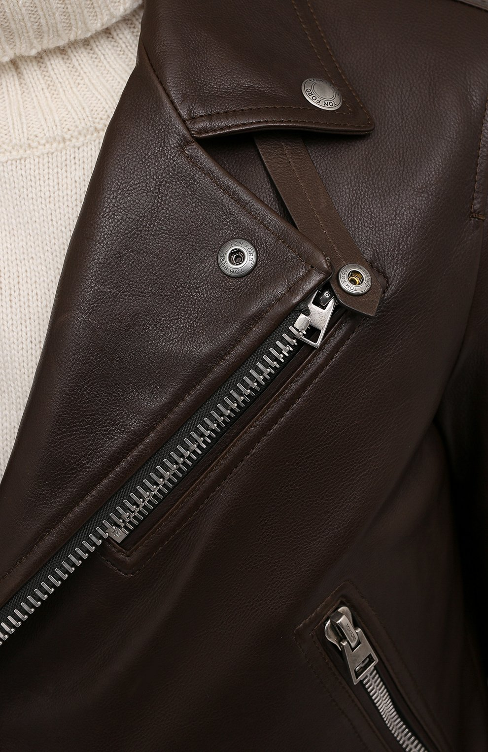 Мужская кожаная куртка TOM FORD коричневого цвета, арт. BW486/TFL827 | Фото 5