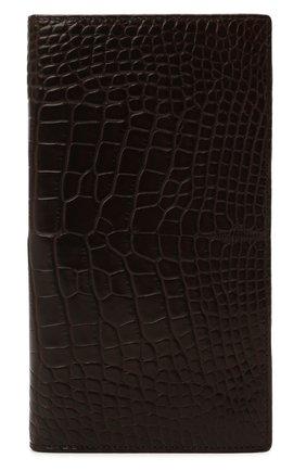 Мужской портмоне из кожи аллигатора ZILLI коричневого цвета, арт. MJL-0WL02-10100/0003/CNIL | Фото 1