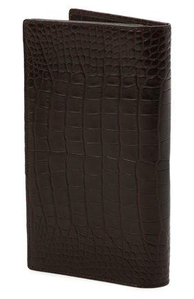 Мужской портмоне из кожи аллигатора ZILLI коричневого цвета, арт. MJL-0WL02-10100/0003/CNIL | Фото 2