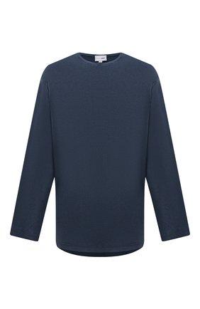 Мужская хлопковый лонгслив ZILLI SPORT темно-синего цвета, арт. MFU-13075-447782/0001/4XL-8XL | Фото 1