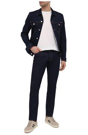 Мужские джинсы DOLCE & GABBANA синего цвета, арт. GY07CZ/G8DM7   Фото 2