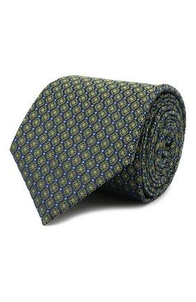 Мужской шелковый галстук CANALI хаки цвета, арт. 18/HJ03076 | Фото 1