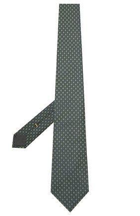 Мужской шелковый галстук CANALI хаки цвета, арт. 18/HJ03076 | Фото 2