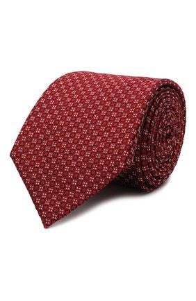 Мужской шелковый галстук CANALI красного цвета, арт. 18/HJ03077 | Фото 1