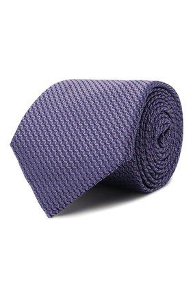 Мужской шелковый галстук CANALI фиолетового цвета, арт. 18/HJ03123 | Фото 1