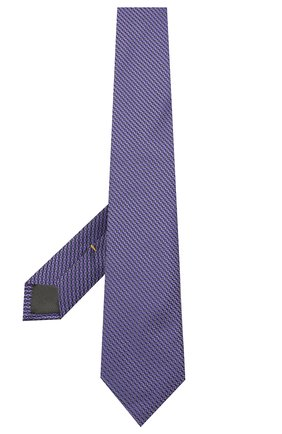 Мужской шелковый галстук CANALI фиолетового цвета, арт. 18/HJ03123 | Фото 2