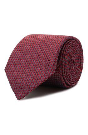Мужской шелковый галстук CANALI красного цвета, арт. 18/HJ03123 | Фото 1