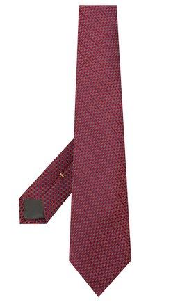 Мужской шелковый галстук CANALI красного цвета, арт. 18/HJ03123 | Фото 2