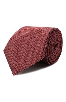 Мужской шелковый галстук CANALI красного цвета, арт. 18/HJ03125 | Фото 1