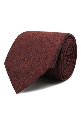 Мужской шелковый галстук CANALI бордового цвета, арт. 18/HJ03126 | Фото 1