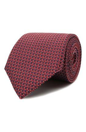 Мужской шелковый галстук CANALI бордового цвета, арт. 18/HJ03128   Фото 1
