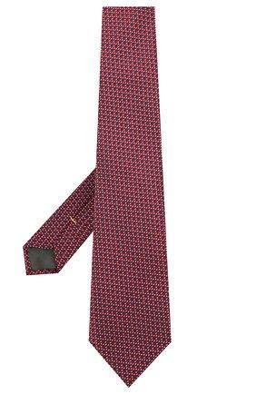 Мужской шелковый галстук CANALI бордового цвета, арт. 18/HJ03128   Фото 2