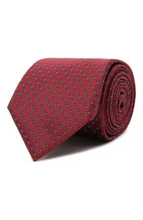 Мужской шелковый галстук CANALI красного цвета, арт. 18/HJ03133 | Фото 1