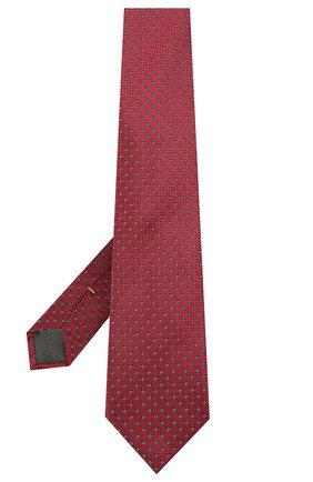 Мужской шелковый галстук CANALI красного цвета, арт. 18/HJ03133 | Фото 2