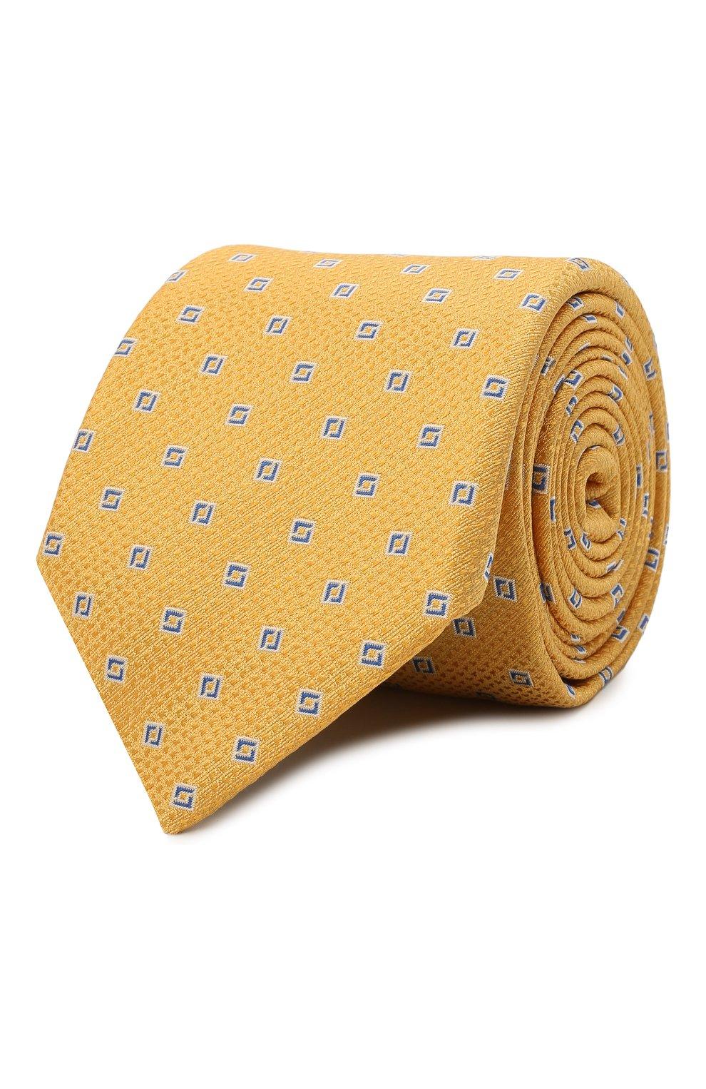 Мужской шелковый галстук CANALI желтого цвета, арт. 18/HJ03135   Фото 1
