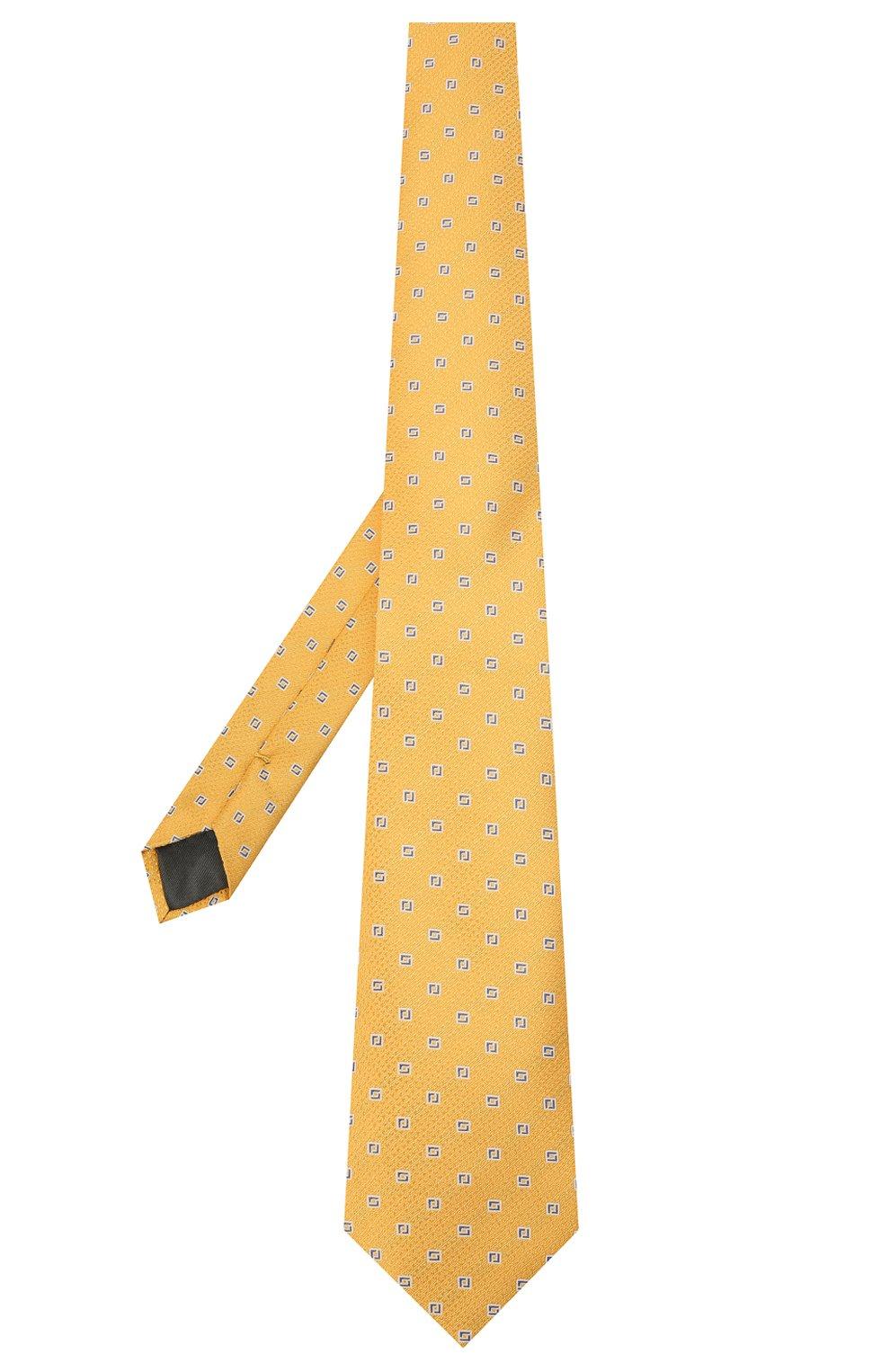 Мужской шелковый галстук CANALI желтого цвета, арт. 18/HJ03135   Фото 2