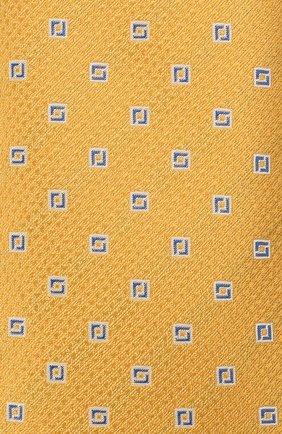 Мужской шелковый галстук CANALI желтого цвета, арт. 18/HJ03135   Фото 3