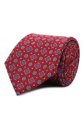 Мужской шелковый галстук CANALI красного цвета, арт. 18/HJ03136 | Фото 1
