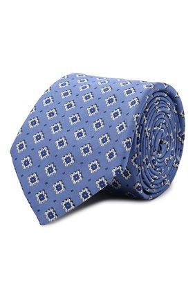 Мужской шелковый галстук CANALI голубого цвета, арт. 18/HJ03152   Фото 1