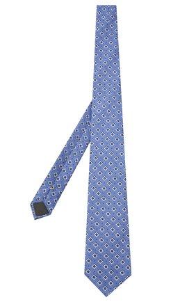 Мужской шелковый галстук CANALI голубого цвета, арт. 18/HJ03152   Фото 2