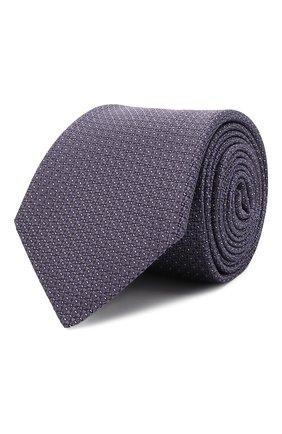 Мужской шелковый галстук CANALI фиолетового цвета, арт. 79/HX03197 | Фото 1