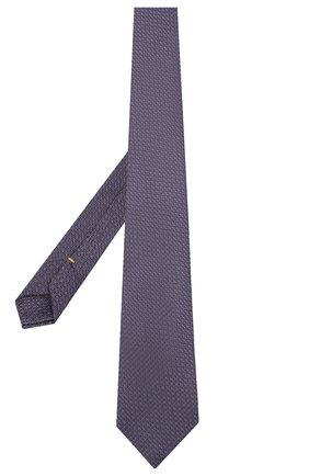 Мужской шелковый галстук CANALI фиолетового цвета, арт. 79/HX03197 | Фото 2