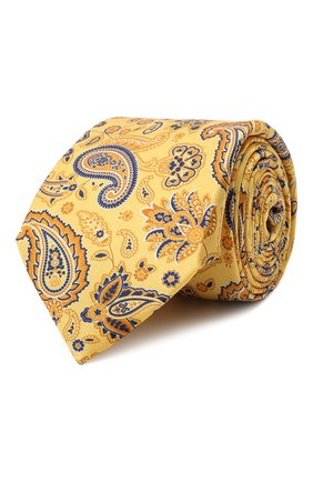 Мужской комплект из галстука и платка CANALI желтого цвета, арт. 08/HS03239 | Фото 1