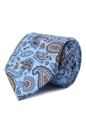 Мужской комплект из галстука и платка CANALI синего цвета, арт. 08/HS03239   Фото 1 (Материал: Шелк, Текстиль)