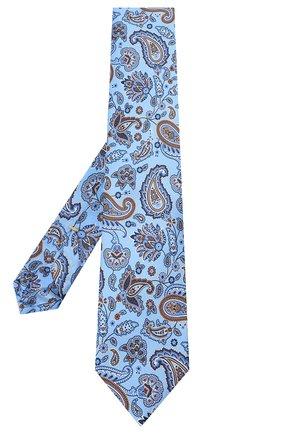 Мужской комплект из галстука и платка CANALI синего цвета, арт. 08/HS03239   Фото 2 (Материал: Шелк, Текстиль)