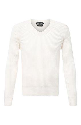 Мужской кашемировый свитер TOM FORD белого цвета, арт. BWK56/TFK300 | Фото 1