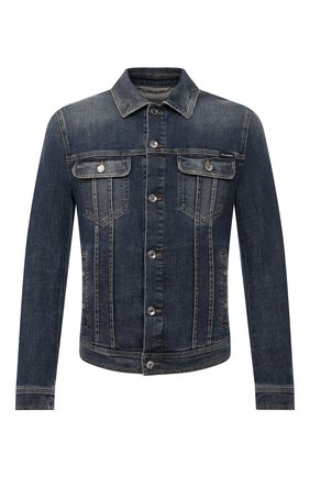 Мужская джинсовая куртка DOLCE & GABBANA синего цвета, арт. G9JC2D/G8CR7 | Фото 1
