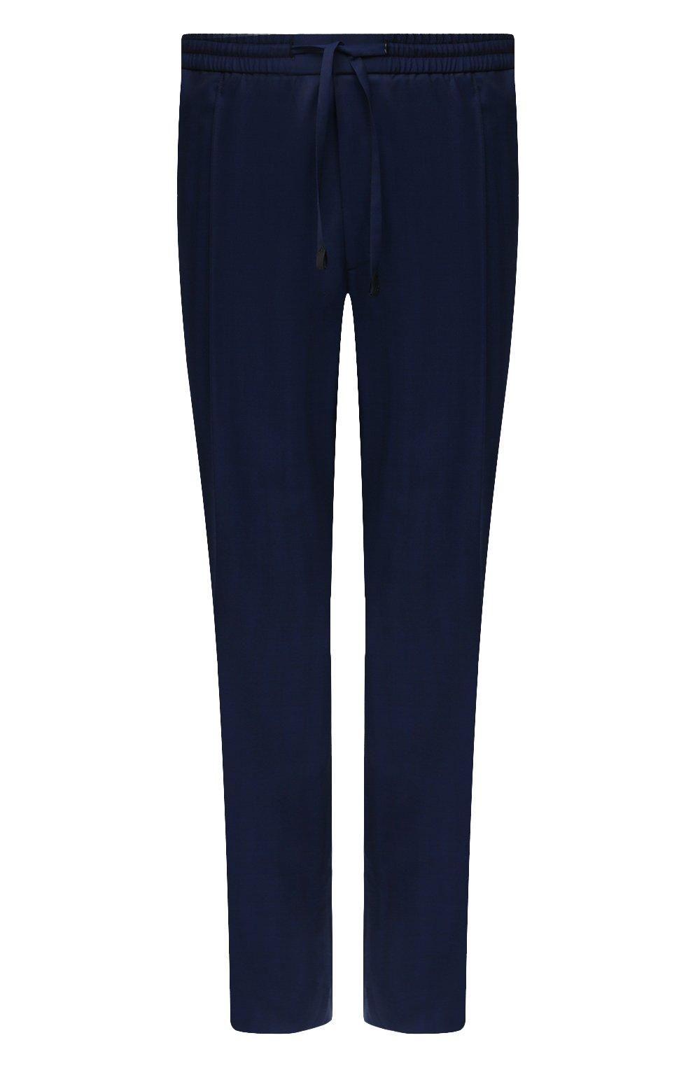 Мужские шерстяные брюки BRIONI темно-синего цвета, арт. RPM20L/P0A9I/NEW SIDNEY   Фото 1