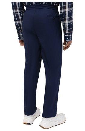 Мужские шерстяные брюки BRIONI темно-синего цвета, арт. RPM20L/P0A9I/NEW SIDNEY   Фото 4