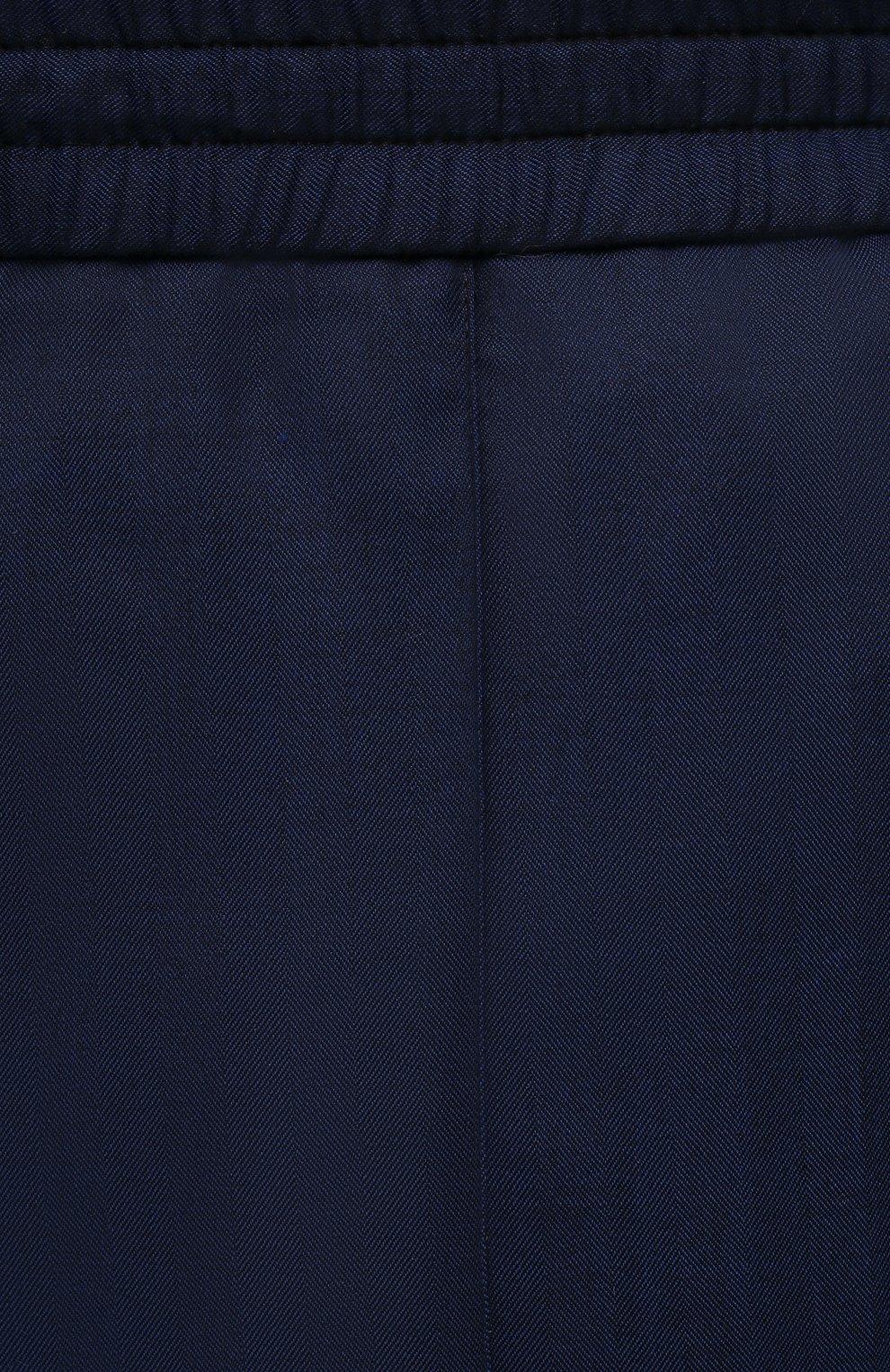 Мужские шерстяные брюки BRIONI темно-синего цвета, арт. RPM20L/P0A9I/NEW SIDNEY   Фото 5