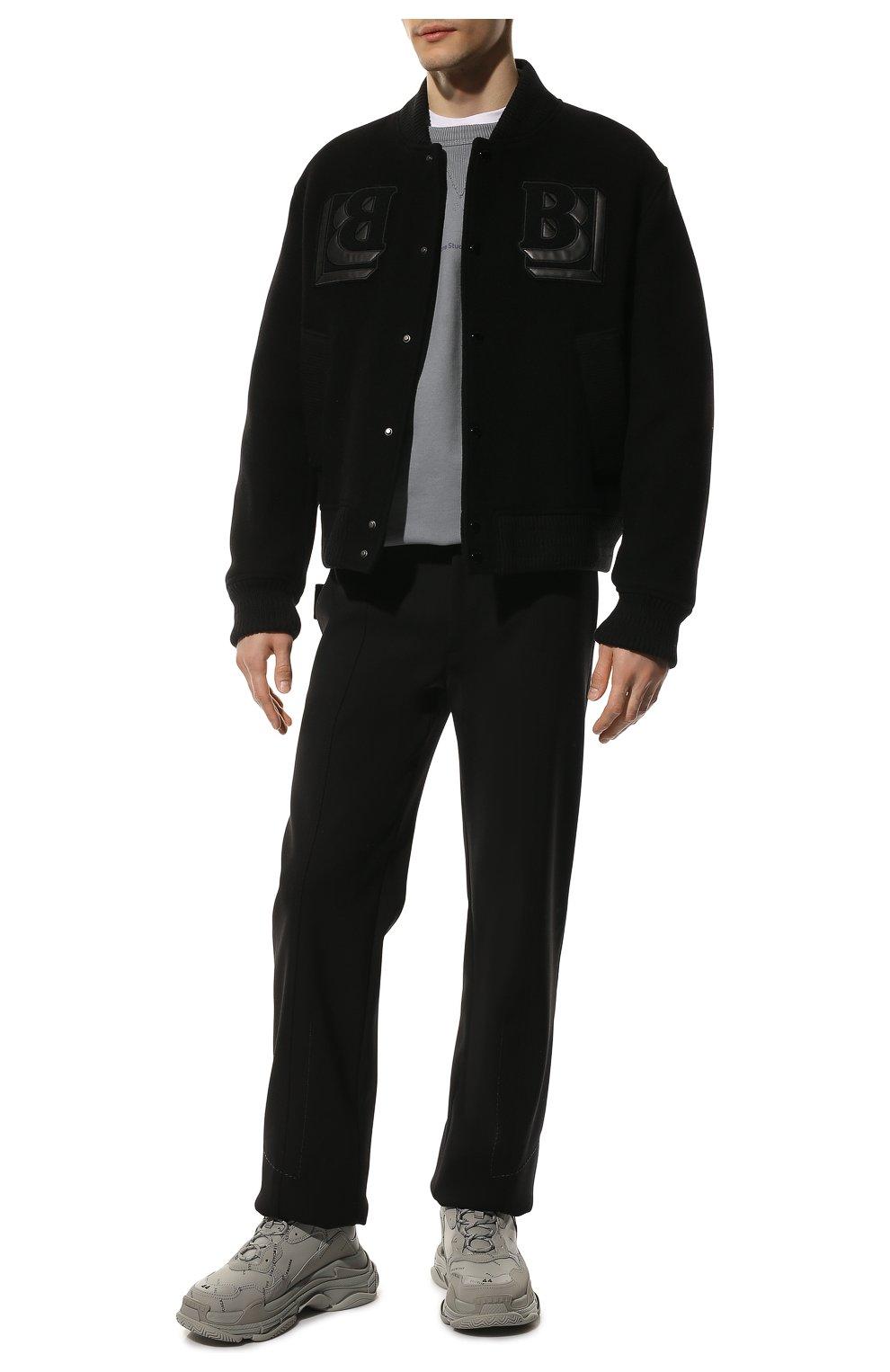 Мужские комбинированные кроссовки triple s BALENCIAGA серого цвета, арт. 536737/W2FA1 | Фото 2 (Материал внешний: Текстиль; Материал внутренний: Текстиль; Подошва: Массивная)