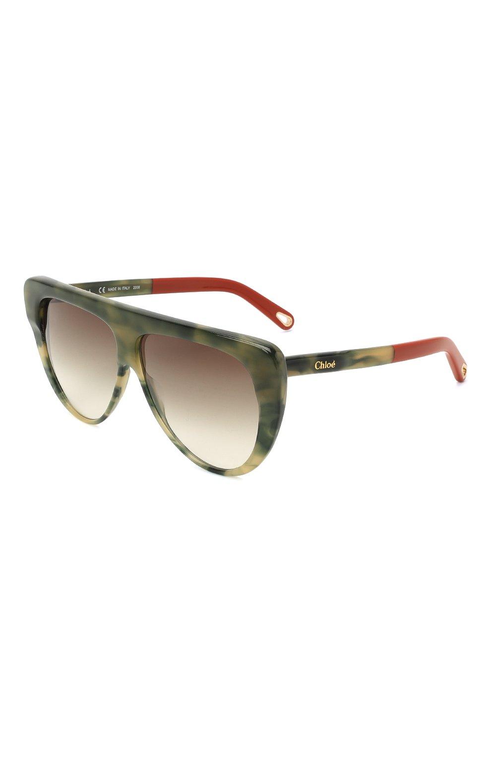 Женские солнцезащитные очки CHLOÉ хаки цвета, арт. 768S-323   Фото 1