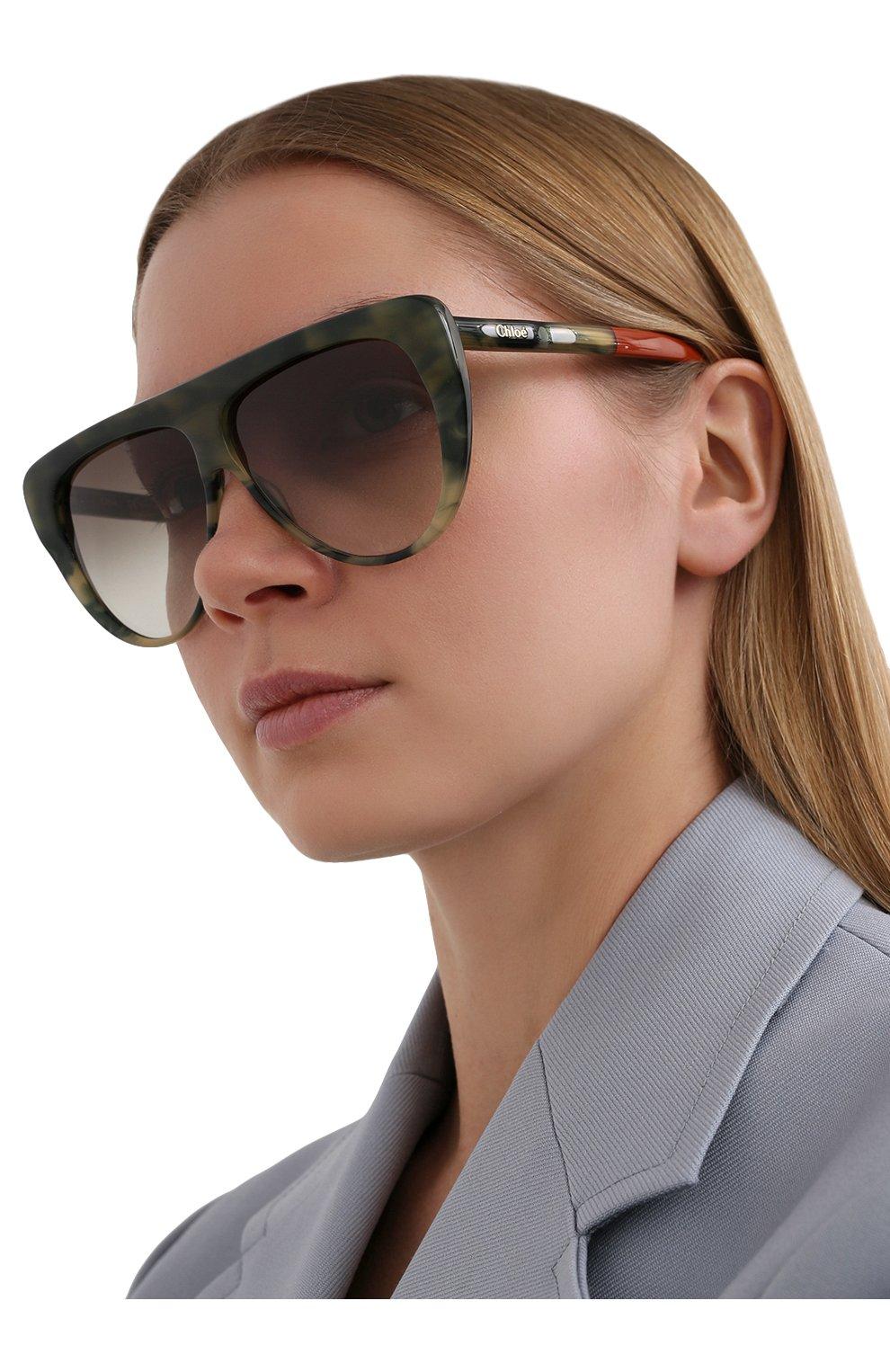 Женские солнцезащитные очки CHLOÉ хаки цвета, арт. 768S-323   Фото 2