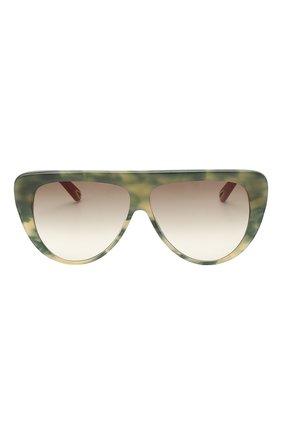 Женские солнцезащитные очки CHLOÉ хаки цвета, арт. 768S-323   Фото 3