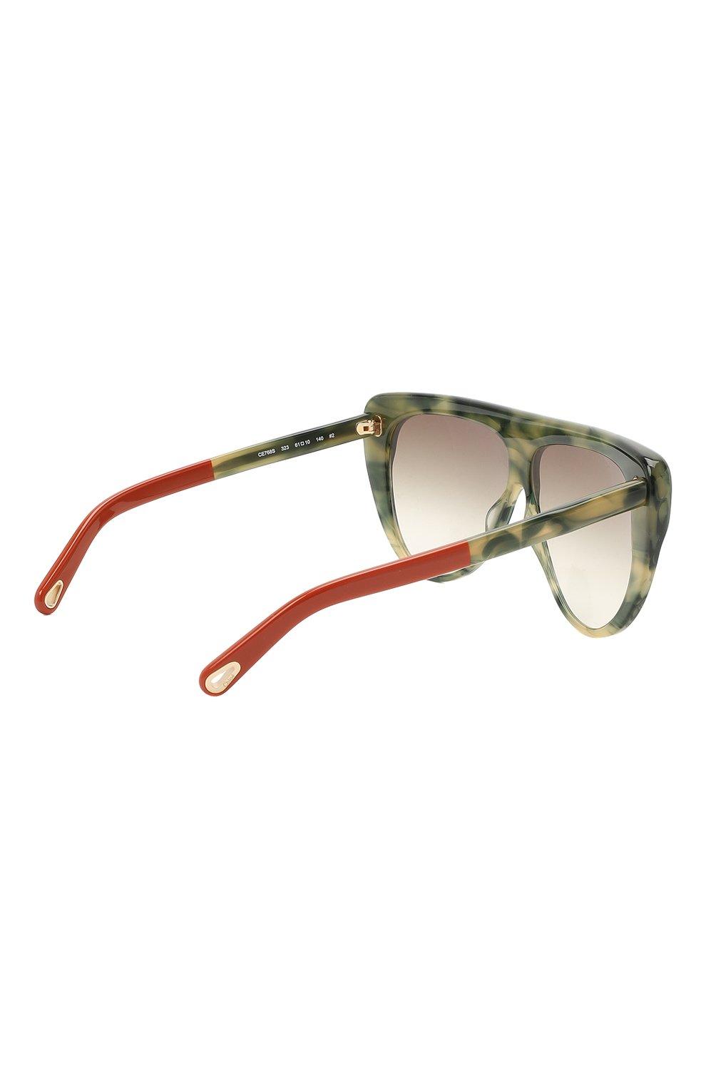 Женские солнцезащитные очки CHLOÉ хаки цвета, арт. 768S-323   Фото 4