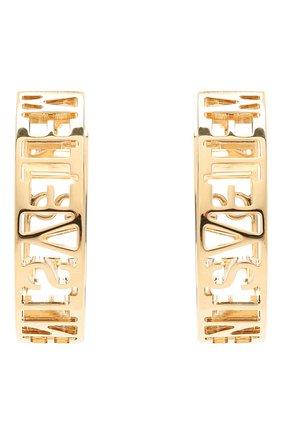 Женские серьги VETEMENTS золотого цвета, арт. WE51EA100G | Фото 1 (Материал: Металл)