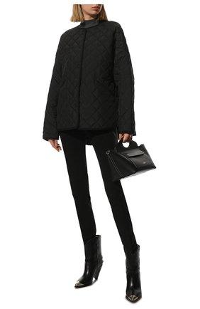 Женская стеганая куртка TOTÊME черного цвета, арт. 211-177-732   Фото 2