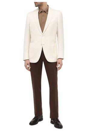 Мужской пиджак из шерсти и шелка BRIONI белого цвета, арт. RG0J0Q/P0A5I/BRUNIC0 | Фото 2