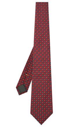 Мужской шелковый галстук CANALI красного цвета, арт. 18/HJ03078 | Фото 2