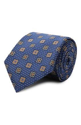 Мужской шелковый галстук CANALI темно-синего цвета, арт. 18/HJ03081   Фото 1