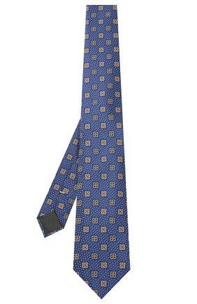 Мужской шелковый галстук CANALI темно-синего цвета, арт. 18/HJ03081   Фото 2